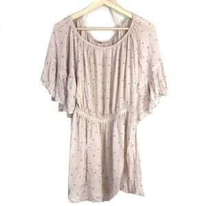 Free People Studded Jeweled Blush Tunic